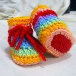 Zainab - colorful baby bootie